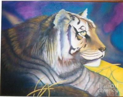 Painting - Resting Tiger by Geri Jones