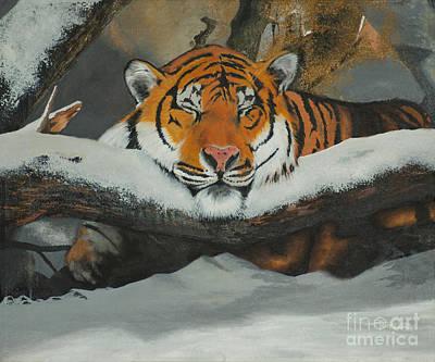 Resting Tiger Art Print by Thomas Luca