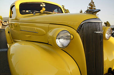 Photograph - Restored Yellow Chevy by Mick Anderson