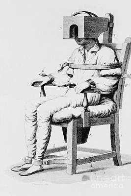 Photograph - Restraining Chair 1811 by Science Source