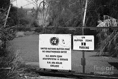 restricted area of the UN buffer zone in the green line dividing north and south cyprus in nicosia Art Print by Joe Fox