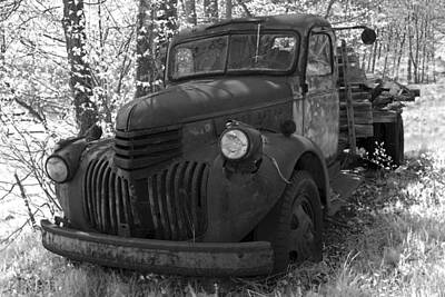 Photograph - Retired Rusty Relic Farm Truck by John Stephens
