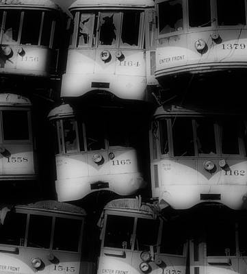 Photograph - Retired Streetcars by Steven Loyd