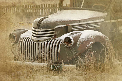 Retired Truck Circa 1924 Art Print