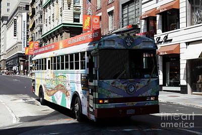 Retro 60s San Francisco Haight Ashbury Magic Bus - 5d18009 Art Print by Wingsdomain Art and Photography