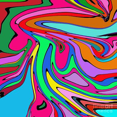 Digital Art - Retro Abstract by Susan Stevenson
