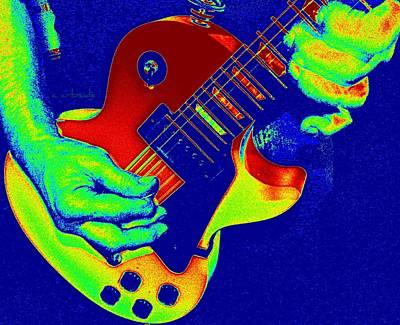 Digitally Manipulated Photograph - Retro Rock by Chris Berry