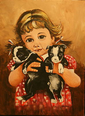 Painting - Retro Wee Girl by Betty-Anne McDonald