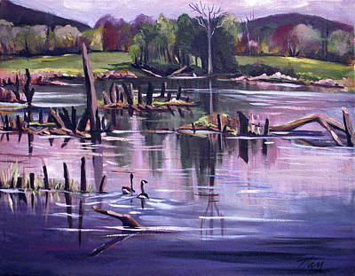 Painting - Return To The Swamp by Nancy Griswold