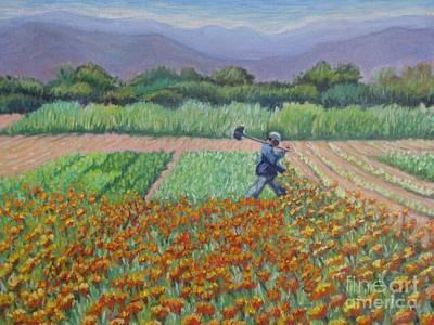 Returning Home In Octolan Art Print by Judith Zur