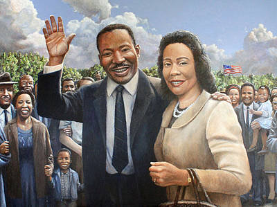 Painting - Rev. Dr. King And Mrs. King by Ma Ly