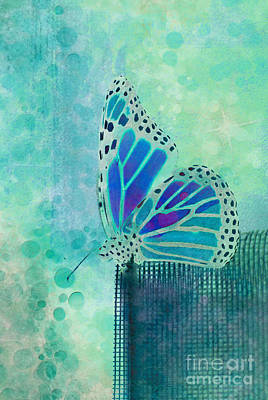 Insect Wall Art - Digital Art - Reve De Papillon - S02b by Variance Collections