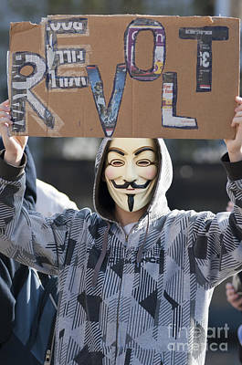 Anonymity Photograph - Revolution by Andrew  Michael