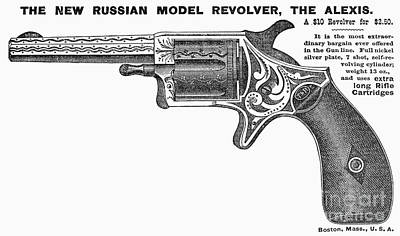 Photograph - Revolver Ad, 1878 by Granger
