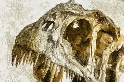 Photograph - Rex - Sketch by Nicholas Evans