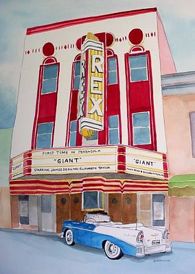 Painting - Rex Theater by Richard Willows