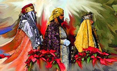 Reyes Magos Art Print by Estela Robles