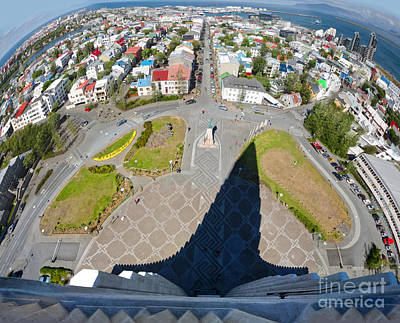 Photograph - Reykjavik Iceland - Aerial View by Gregory Dyer