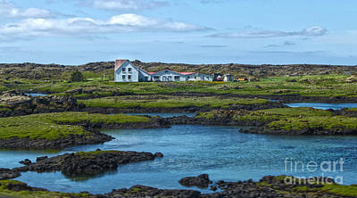 Photograph - Reykjavik Iceland - Lonely House by Gregory Dyer