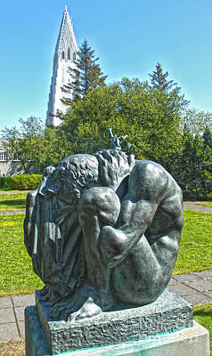 Photograph - Reykjavik Iceland Statue - 02 by Gregory Dyer