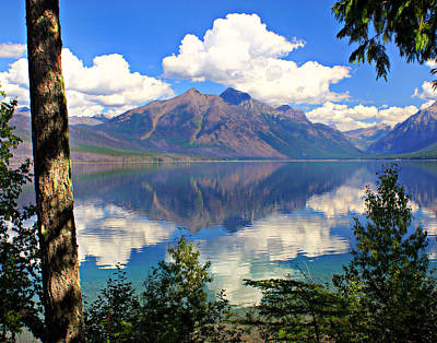 Rflection On Lake Mcdonald Art Print by Marty Koch