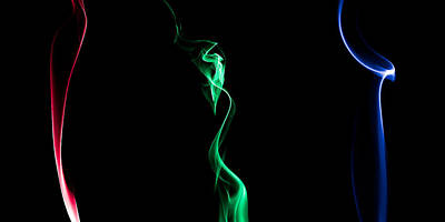 Photograph - Rgb Smoke by Gert Lavsen