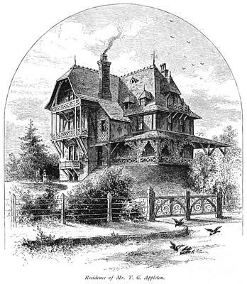 Rhode Island: Villa, 1876 Art Print by Granger
