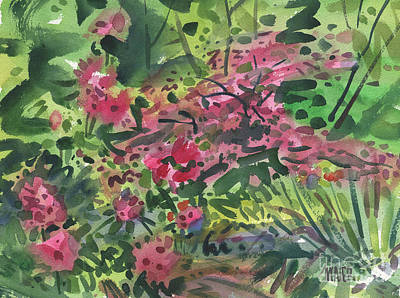 Painting - Rhododendrons And Azaleas by Donald Maier