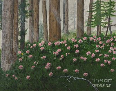 Rhododendrons And Redwoods Art Print