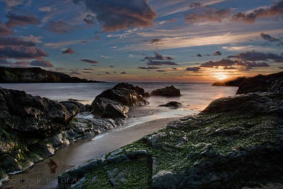 Art Print featuring the photograph Rhosneigr Sunset  by Beverly Cash