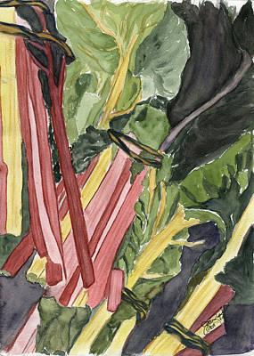 Rhubarb Study Art Print