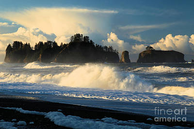 Photograph - Rialto Beach Fury by Adam Jewell