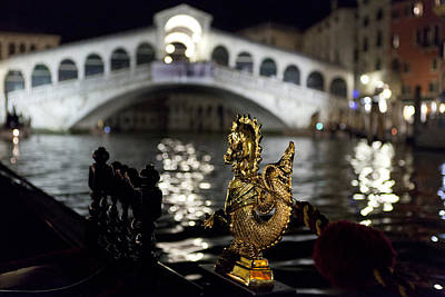 Photograph - Rialto Bridge From Gondola by Michael Yeager