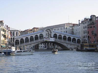 Rialto. Venice Art Print by Bernard Jaubert