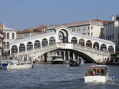 Venise Photograph - Rialto.venice by Bernard Jaubert