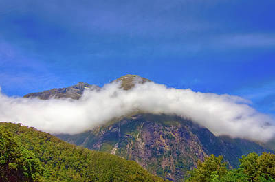 Photograph - Ribbon Cloud At Milford Sound by Harry Strharsky