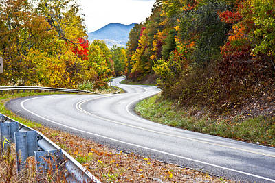 Mountain Royalty-Free and Rights-Managed Images - Ribbon Road by Betsy Knapp