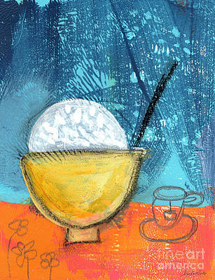 Table Mixed Media - Rice And Tea by Linda Woods