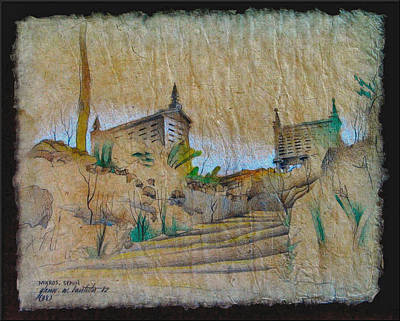 Drawing - Rice Storage In Muros 1982 by Glenn Bautista