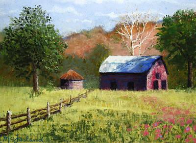 Pastel - Rich Fountain Barn by Lorraine McFarland