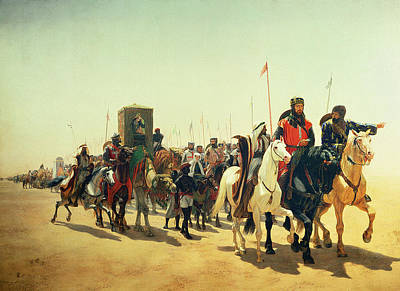 Crusader Painting - Richard Coeur De Lion On His Way To Jerusalem by James William Glass