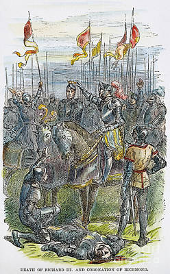 Richard IIi At Bosworth Art Print by Granger
