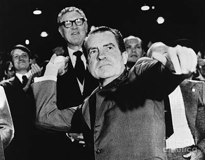 Richard Nixon (1913-1994) Art Print by Granger