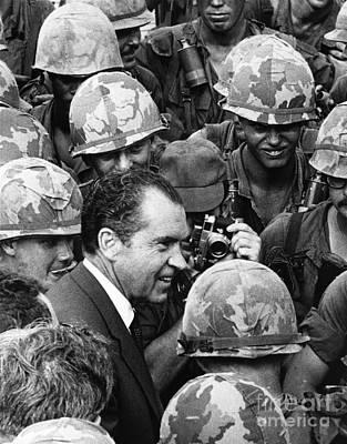 Photograph - Richard Nixon, 37th American President by Photo Researchers