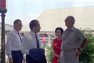 Agnew Photograph - Richard Nixon And Spiro Agnew Visit by Everett