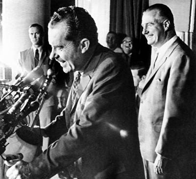 Miami Vice Photograph - Richard Nixon With His Vice by Everett