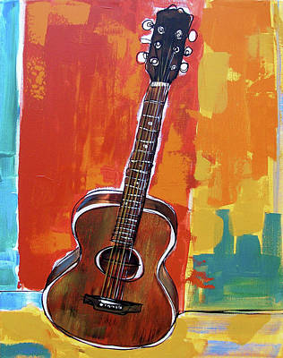 Painting - Richard's Guitar 2 by John Gibbs