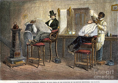 Liberated Photograph - Richmond Barbershop, 1850s by Granger