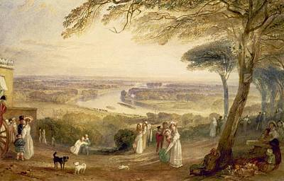 On Paper Painting - Richmond Terrace by Joseph Mallord William Turner