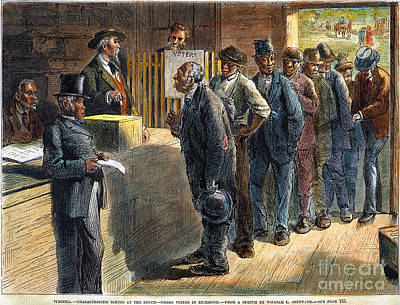 Reconstruction Photograph - Richmond: Voting, 1871 by Granger